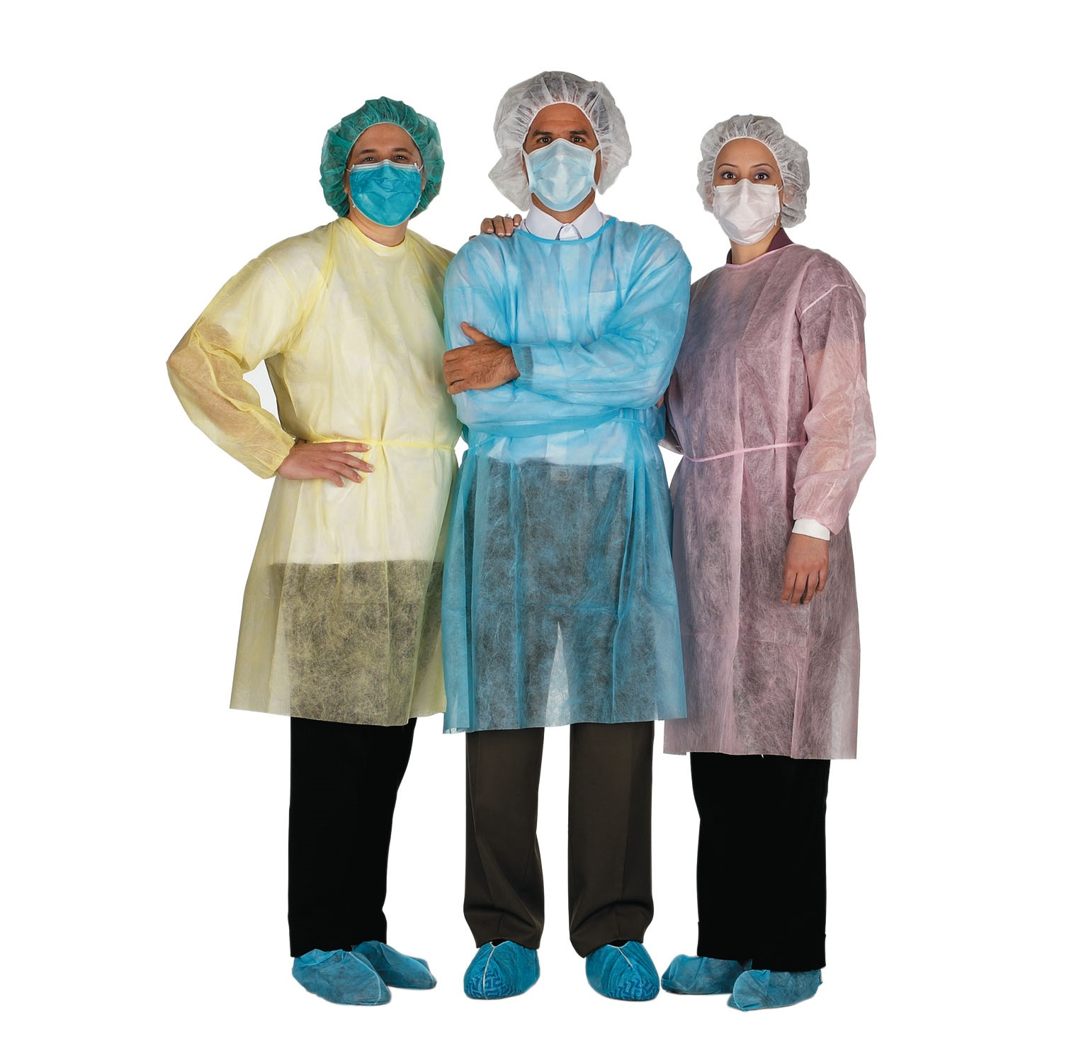 Distech Isolation Gown, Economy, X-Large, Yellow